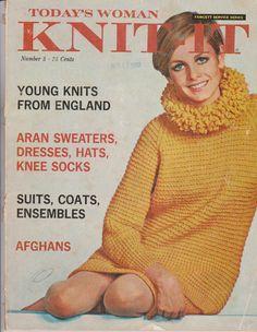 Twiggy ~ 1967 Today's Woman Knit-It Magazine