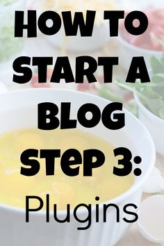 three steps start food blog