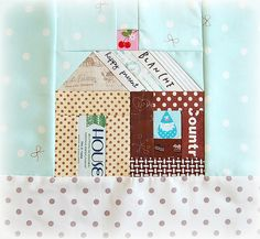 Christmas house block with Sew Cherry chimney:)
