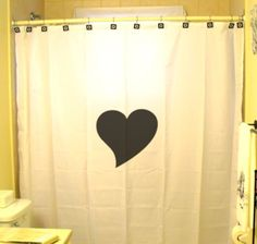 Love Heart Shower Curtain Romance by CustomShowerCurtains on Etsy ~ $35