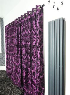 Lilac Damask Curtain Upholstery Fabric By Fabricmart On