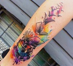 10 Bookish Tattoos That Give Me Serious Tattoo Envy #tattoos #books