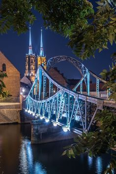 Tumski Bridge (Wroclaw, Poland) by harmony1 on 500px