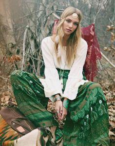 Beautiful green Bohemian skirt