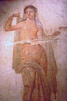 Pompeii Fresco from the Secret Room. Naples Archaeological museum