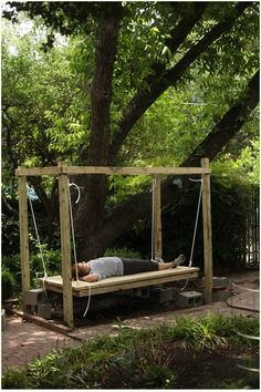 How to Build an Outdoor Swinging Bed- Part Three--- I LOVE THIS ONE...