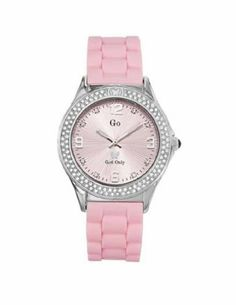 Go Women's 697841 Pink Dial Crystal Soft Rubber Watch Go. $109.00. Extra soft pink rubber strap. Quartz movement. Luminous hour hands. Crystals on dial and bezel. Water-resistant to 165 feet (50 M)