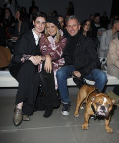 Erin O'Conner Twiggy and Patrick Cox pose on the front row at the Burberry Prorsum show for London Fashion Week Autumn/Winter 2010 at on February 23...