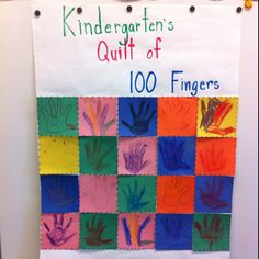 Quilt of 100 Fingers! Made by your students.
