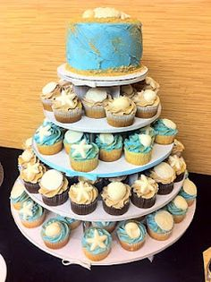 beach cupcake cake- this is exactly what I want!