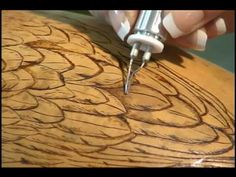 Woodburning on Gourds with Carrie Dearing - YouTube