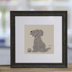 Dog & Ball - £40 framed print from Sophie Morrell
