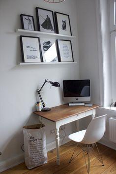 Little Office | SoLebIch.de Foto: Ninas Life #solebich #einrichten  #einrichtungsideen #deko #dekoideen #dekoration #wohnen #wohnideen #stühle  #stuhl #eames ...