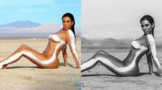 Kim Kardashian Photoshopped Desert Shoot