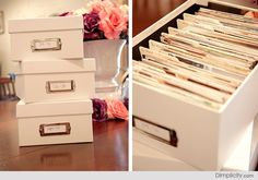 How to organize photographs…digital and print. – The little thins – Event planning, Personal celebration, Hosting occasions Paper Organization, Storage Organization, Organizing, Storage Ideas, Picture Storage, Photo Storage Boxes, Storage Drawers, Organize Your Life, How To Organize Photos