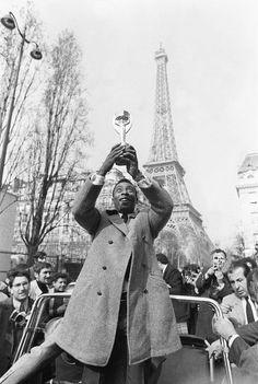 Famous Brazilian soccer player Pelé in Paris, 1971