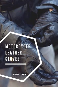 Mens riding Soft leather gloves Lined new Cruise style Distressed Grey Gel palm