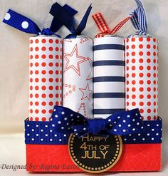 of July Firecracker project by reaster 4th Of July Celebration, 4th Of July Party, Fourth Of July, Candy Crafts, Paper Crafts, Independence Day Wallpaper, July Birthday, Happy Birthday, Patriotic Party