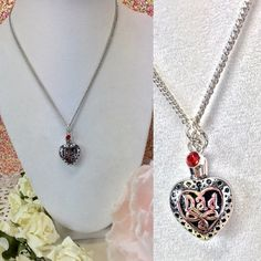 Loving Memory DAD urn necklace with birthstone This beautiful urn DAD necklace is a great way to keep your loved one close to your heart .  Comes with a birthstone  The top unscrews so that you can place your loved ones securely inside.    Please message us with any questions. Jewelry Necklaces