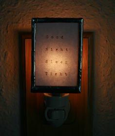 Good Night Sleep Tight  Soldered Night Light by ObjectsOfAffection, $25.00