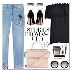"""""""ONE DENIM"""" by mada-malureanu ❤ liked on Polyvore featuring Michael Kors, Valentino, Givenchy, Bobbi Brown Cosmetics, Miu Miu, vintage, SpringStyle, embroideredjeans, flaredenim and onedenim"""