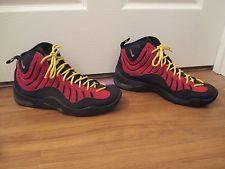 79cb8898cb3ed8 Used Worn Size 11.5 Nike Air Bakin  Basketball Shoes Black Red Yellow Nike  Air Bakin