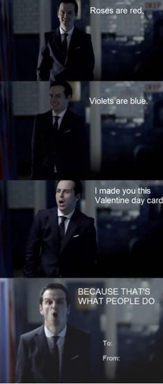 Moriarty Valentine /// not sure where to put... <3 <3 <3 he is adorable! that's so messed up but! true