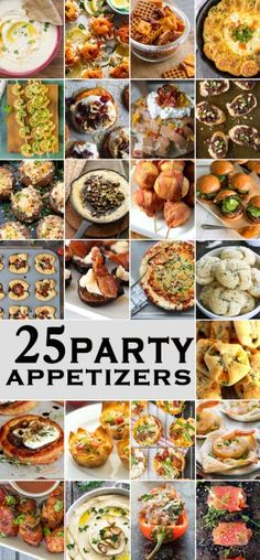 25 PARTY APPETIZERS perfect for tailgate, christmas, new years eve, and the Super Bowl! Great easy appetizer recipes for year round snacking. FAVORITE ROUNDUP EVER! Finger Food Appetizers, Easy Appetizer Recipes, Appetizers For Party, Party Finger Foods, Christmas Party Appetizers, Individual Appetizers, Toothpick Appetizers, Tailgate Appetizers, New Years Appetizers