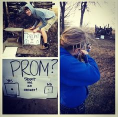 The greatest way to ask someone to prom!
