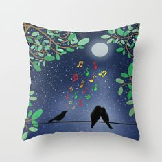 Moonlight Serenade by Tjc555 #pillows #homedecor #love