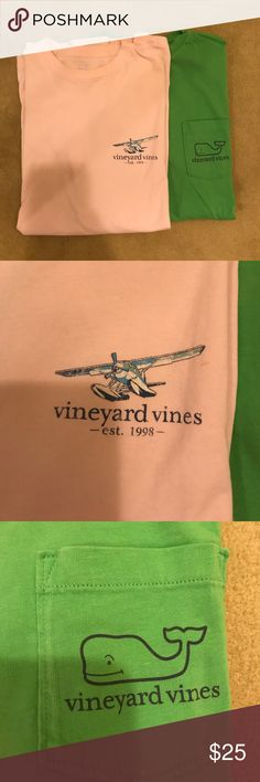 TWO Vineyard Vines T-shirts! Both in great condition! Willing to sell separately :) They are both men's smalls. Vineyard Vines Tops Tees - Short Sleeve