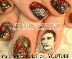 twilight team edward nail art  www.youtube.com/watch?v=uQnxVNM4quk