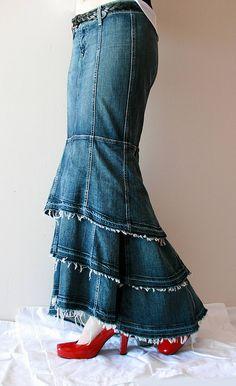Denim Mermaid Skirt Left | Flickr - Photo Sharing!