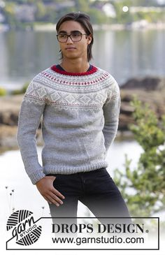 Nordic - Free knitting patterns and crochet patterns by DROPS Design Narvik, Drops Design, Pullover Design, Sweater Design, Sweater Knitting Patterns, Knit Patterns, Fair Isle Knitting, Free Knitting, Magazine Drops