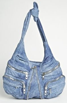 alexander wang denim leather
