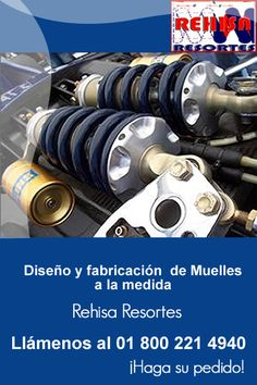 En rehisa contamos con diseño y fabricacion de muelles a la medida, llámenos http://www.rehisaresortes.com/muelles/