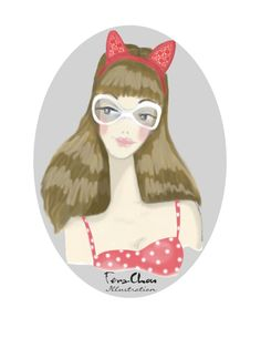 """""""The Sexy Cat Lady"""" Expression series. Pencil sketch and Photoshop. well.. for this series 90% is done with photoshop :p  #face #digital #fashion   #illustration #fashionillustration #photoshop #fashionillustrator #ferachou"""