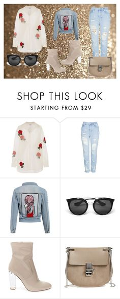 """""""Untitled #56"""" by jk-jednacurica on Polyvore featuring Ashish, Topshop, Prada, Steve Madden and Chloé"""