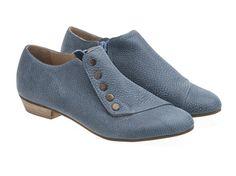 Navidad en julio gracia mezclilla azul zapatos de pisos hechos