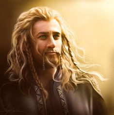 "Middle-earth: #Fili (#Dean #O'Gorman), ""The Hobbit."" ""Fire,"" by Aegileif, at deviantART."