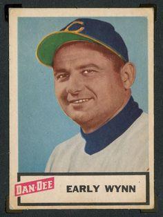 1954 Dan-Dee Potato Chips Baseball Cards Early Wynn Cleveland Indians Baseball Card