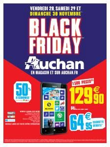 Catalogue Auchan Black Friday du vendredi 28 novembre 2014 au dimanche 30 novembre 2014 ( 28/11/2014 - 30/11/2014 )