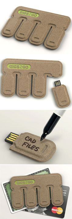 Tear and Share USB Key - You just need to tear off a tab and take the handy USB Drive on the go with you! Crafted essentially from 100% post-consumer molded paper pulp, this economical, credit-card-sized data pack is fantastic!