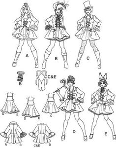 Diy Sewing Pattern-Simplicity Pattern 3685-Costume Short Lolita Dress. $6.00, via Etsy.