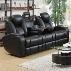 Leather Sofa And Recliner. This best image selections about Leather Sofa And Recliner is accessible to save. Leather Sofa And Loveseat, Best Leather Sofa, Leather Reclining Sofa, Black Leather Sofas, Sofa Couch, Sofa Set, Black Sofa, Reclining Couch, Diy Sofa