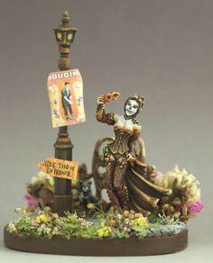"Reaper Miniature's Bourbon Street Sophie, painted to reflect 2013 ReaperCon ""Dark Carnival"" theme. Silver medal winner."
