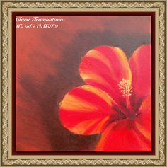 Rosso olio su tela 30/30