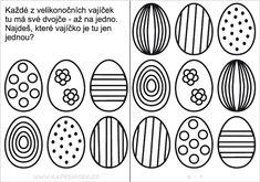 Velikonoce   Předškoláci - omalovánky, pracovní listy - strana 7