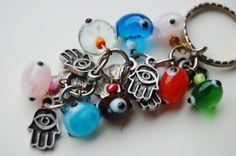 Hamsa Hand Bunch Key Chain Handmade