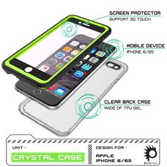 The PUNKcase CRYSTAL case is your ultimate protection against what you or nature can offer. IP68 certified! The CRYSTAL case is Waterproof, Dust Proof, Snow Proof, Drop Proof, Shockproof and it has a HD clear scratch resistant screen guard to complete the protection. The package includes a lanyard. Easy access to all buttons, controls, camera, speaker and microphone. The PUNKcase CRYSTAL case has 7 stylish colors to choose from to fit your taste. Super slim body provides 3 layers of…